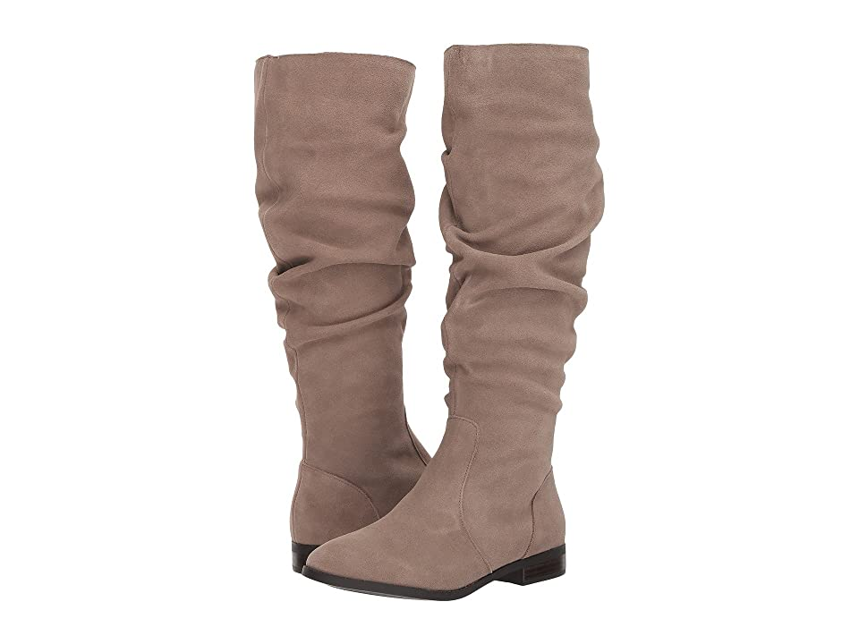 Steve Madden Beacon Slouch Boot (Taupe Suede) Women