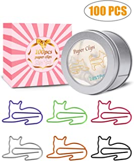 Paper Clips, 100 Pcs Funny Paperclips Desk Accessories for Women Office, Cute Office Supplies for Women, Office Gift Cat Gifts for Cat Lovers, Cat Lover Gifts for Women Girls Coworkers (100)