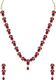 Zaveri Pearls Necklace Set for Women (Pink)(ZPFK6110)
