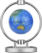 6 Inch Magnetic Leviation Globe, Wireless BT Speaker Floating World Map Globe with Colorful LED Light & Base Stand