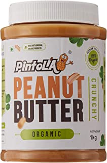 Pintola Organic All Natural Crunchy Peanut Butter, 1kg