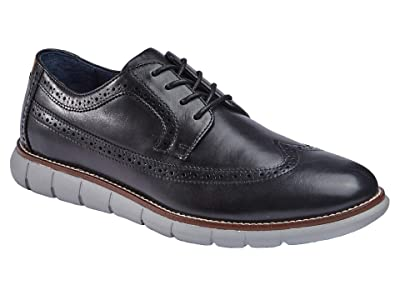 Johnston & Murphy Milson Longwing (Black Full Grain Leather) Men