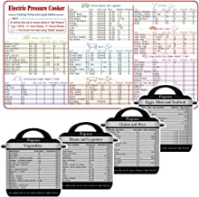 Magnetic Cheat Sheets, Compatible with Instant Pot, Cook Times Liquid Ratio Quick Reference Guide for Many Common Foods, Instapot Accessories for Cookware, 5 pcs