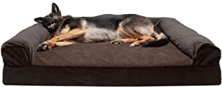 Furhaven Pet Dog Bed   Cooling Gel Memory Foam Orthopedic Faux Fleece & Chenille Soft Woven Traditional Sofa-Style Living ...