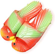 Bird Animal Slippers Summer Beach Sandals Shower Slippers Non-Slip Beach Shoes Wear for Women Child Baby Casual Shoe … (1-2 Child US, red)