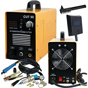 SUPER DEAL DC Inverter Plasma Cutter Welding Machine With Screen Display Dual Voltage 110/220V AC 1/2'' Clean Cut (CUT 50)
