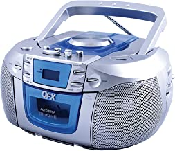 QFX WORLDWIDE VOLTAGE Portable AM/FM Radio with CD/MP3 Player and Cassette Tape Deck, USB Slot, Aux In Jack, Earphone Jack