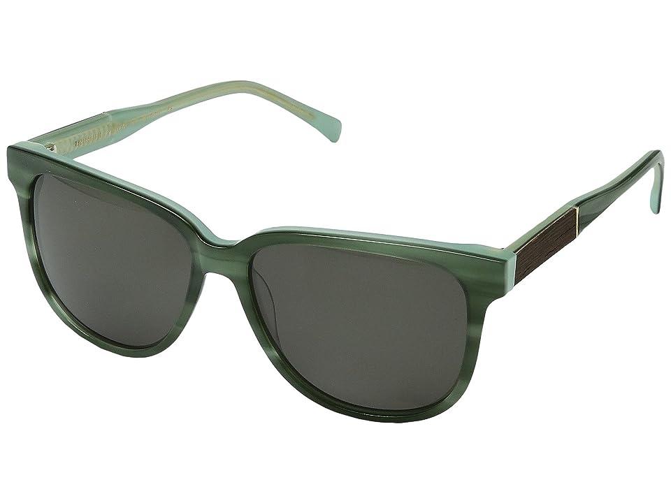 Shwood Mckenzie Acetate Wood (Jade/Ebony/G15) Sport Sunglasses