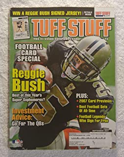 Reggie Bush - New Orleans Saints - Football Cards Special - Tuff Stuff Magazine - September 2007 - Best Football Sets of All Time, Football Legends Who Sign for Free articles