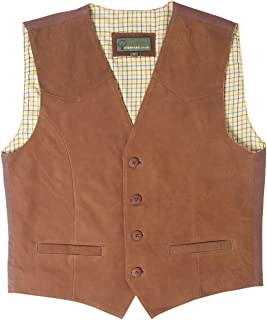 HIDEPARK 004: Men's Tan Leather Waistcoat