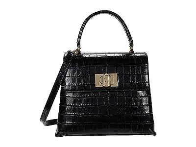 Furla 1927 Small Top-Handle (Nero) Handbags