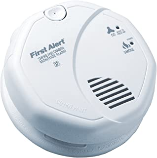6 Pack of - First Alert SC7010B Hardwire Photoelectric Smoke and Carbon Monoxide Alarm with Battery Backup
