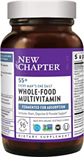 New Chapter Multivitamin for Men - Every Man's One Daily 55+ with Fermented Probiotics + Whole Foods + Astaxanthin + Organ...