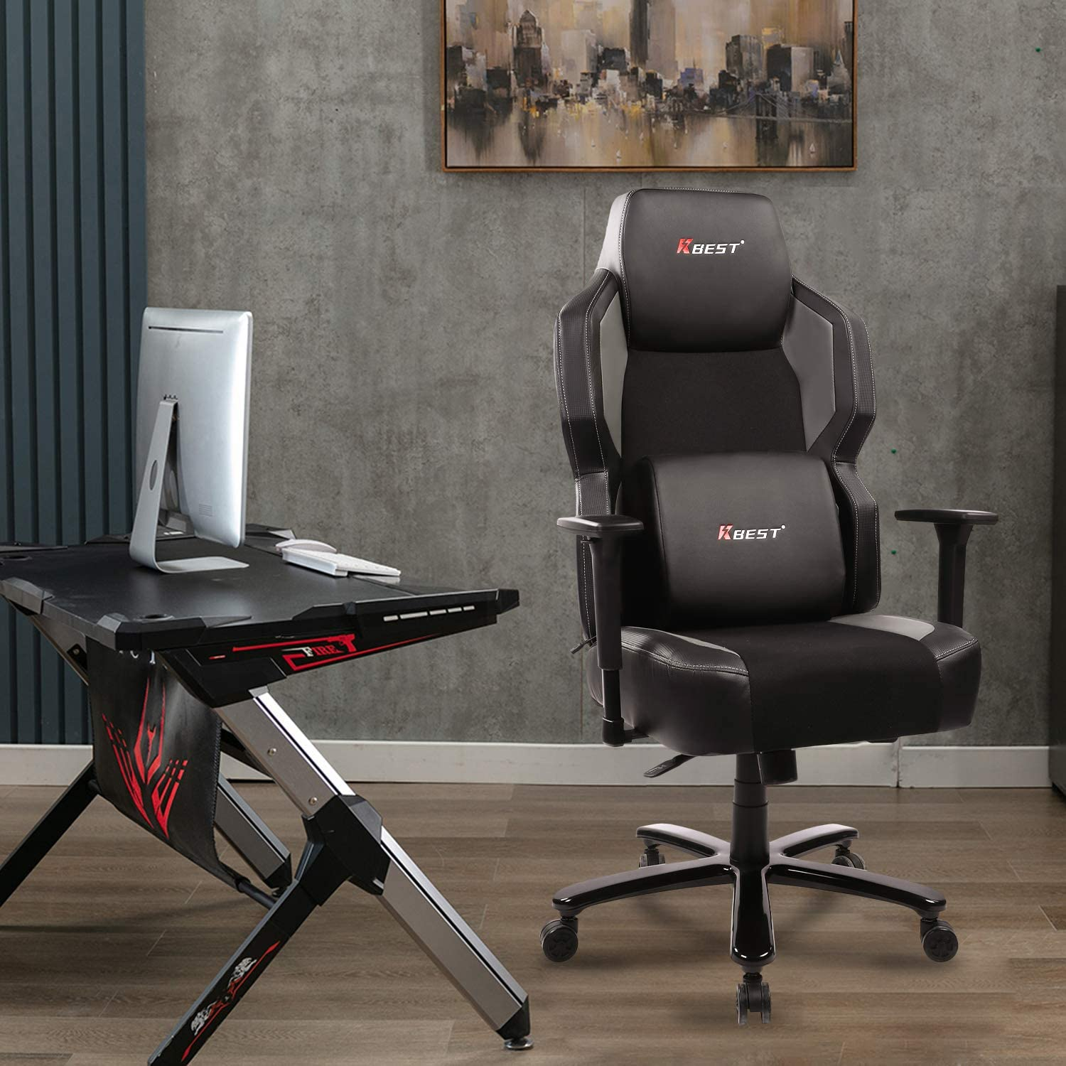 Peroine Big & Tall PU Leather Gaming Chair $144.99 Coupon