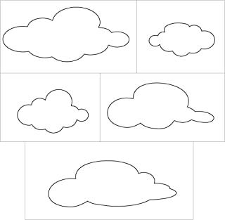 My Wonderful Walls Cloud Wall Stencils for Painting Clouds in Baby Room and Kids Room
