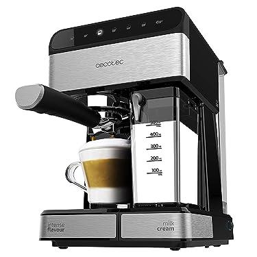Cecotec Power Instant-ccino 20 Touch Kaffemaschine. Siebträger, 20 bar Druck, 1'4 L Wassertank, Milchbehälter,Touch-Bedienung, 1350 W