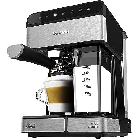 Cecotec Machine à café Semi-Automatique Power Instant-ccino 20 Touch Serie Nera. 20 Bars de Pression, 1.4 L, 6 Fonctions, Chauffage par Thermoblock, Contrôle Tactile, Réservoir de Lait, 1350 W.