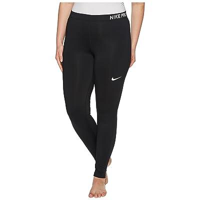 Nike Pro Training Tight (Size 1X-3X) (Black/Black/White) Women