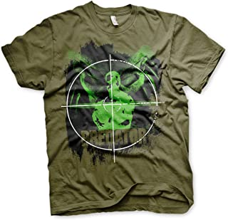 Officially Licensed Predator Crosshair Mens T-Shirt (Olive)