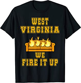 West Virginia Funny Football Shirt - Burning Couches