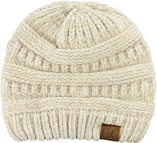 C.C Women's Chenille Soft Warm Thick Knit Beanie Cap Hat