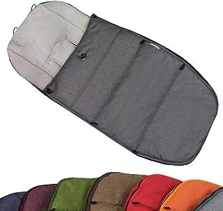 BAMBINIWELT Fußsack Winterfußsack für BUGABOO Kinderwagen, universal, Sitzauflage, mit Fleece (Mod K) (grau)
