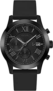 Men's Stainless Steel Silicone Casual Watch