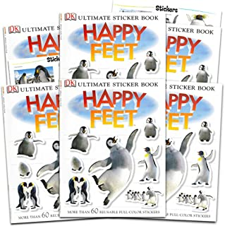 Happy Feet Stickers Happy Feet Penguins Party Favors Pack -- Set of 6 Activity Books with Over 360 Stickers (Penguin Party...