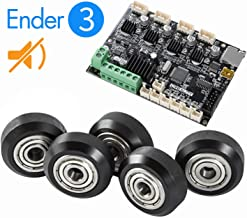 Creality 1.15 Silent Mainboard Upgrade,Mute Module for Enter 3 and Big Plastic Pulley Wheel for 3D Printer