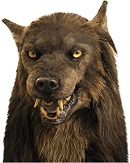 Wild Wolf Halloween Headwear Costume Mask Holiday Funny Overhead Masks for Masquerade Decorations Realistic Decor Costumes...