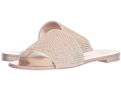 Giuseppe Zanotti Adelia Rhinestone Slide Sandal (Cam Bianco/Rose) Women