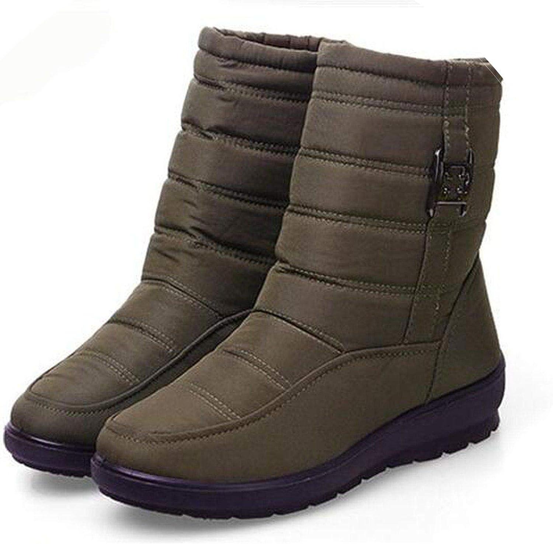 Summer-lavender Snow Boots Women Winter Boots Mother shoes Antiskid Waterproof Flexible Women Casual Boots Size 42