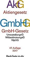 Aktiengesetz ;: GmbH-Gesetz : Textausgabe (Beck-Texte im dtv) (German Edition)