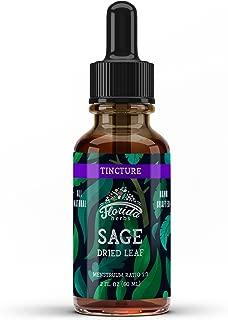 Sage Tincture, Organic Sage Extract (Salvia officinalis) Dried Leaf, Sage Drops, Sage Vitamins
