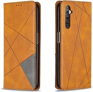 "MOONCASE Realme 6 Pro Case، فليب غطاء جلد محفظة مغناطيسي مع فتحة بطاقة جيب حامل القضية لـ Realme 6 Pro 6.6 ""-أصفر"