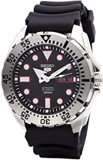 5 Sports SRP601J1 Men's Japan Automatic Black Resin Band 100M Dive Watch
