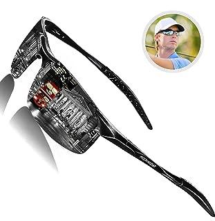 Driving Polarized Sunglasses for Men UV Protection Ultra Lightweight Al Mg Golf Fishing Sports Sunglasses for Medium&Big Head