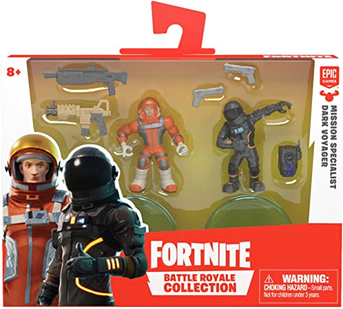 Fortnite- Figure Duo Pack-Missn Specialist & DRK Voyager-Figurines de Collection, 35938, Rouge