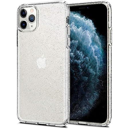 Spigen iPhone 11 Pro ケース 5.8インチ 対応 TPU クリア 薄型 軽量 傷防止 カメラ保護 Qi充電 ワイヤレス充電 リキッド・クリスタル 077CS27229 (グリッター・クリスタル・クォーツ)