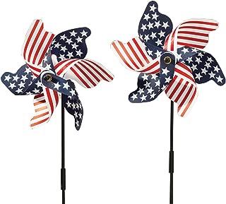 Fox Valley Traders 315356 Patriotic Set of 2 Pinwheel, One Size Fits Gallon, Multicolor
