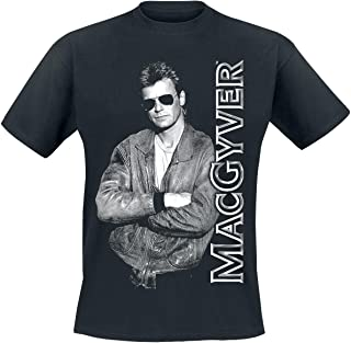 MacGyver Officially Licensed Cool T-Shirt (Black)