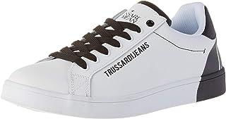 Trussardi Jeans Sneaker Leather Printing, Scarpe con Lacci Uomo