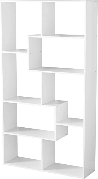 Home 8 Shelf Bookcase White