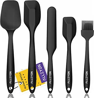 Alleyon High Heat-Resistant Premium Silicone Spatula Set, BPA-Free One Piece Design, Non-Stick Rubber with Stainless Steel...