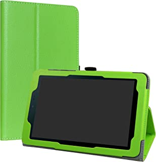 "Sprint Slate 8 Case,LiuShan PU Leather Slim Folding Stand Cover for 8"" Sprint Slate 8 (AQT80) Android Tablet,Green"