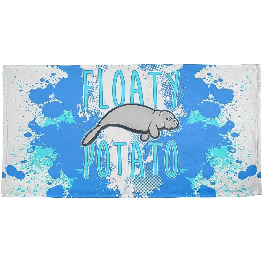 回想発送家浮きPotato Manatee FunnyグランジSplatter All Overビーチタオル OneSize 00168904-MUL-OS