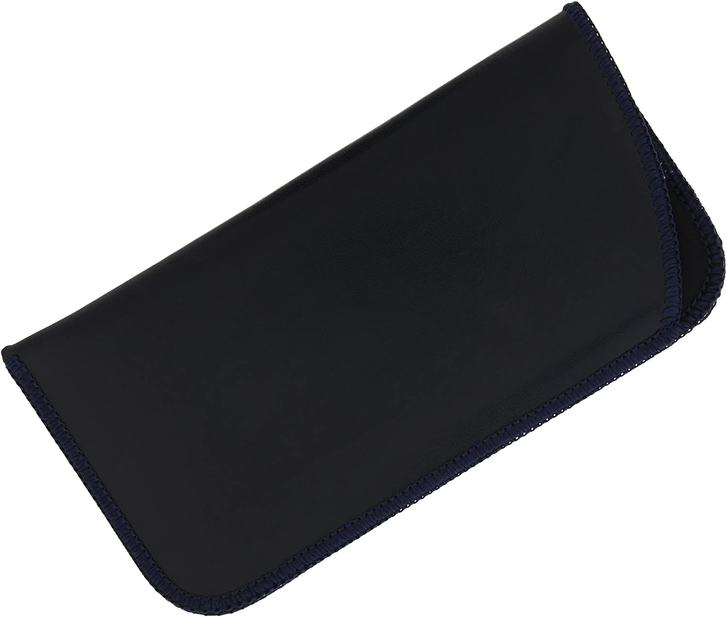 Classic Faux Leather Eyeglass Slip Cases In Navy For Men And Women, Multi Packs