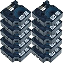 NineLeaf 10 PK Label Tape Black on White Compatible for DYMO D1 45803 P-Touch 3/4