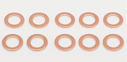 6 Pieces of Copper Seal O-Ring Washer Gasket, for Oil Drain Plug Banjo Bolt Metric, M18 x 1.5mm