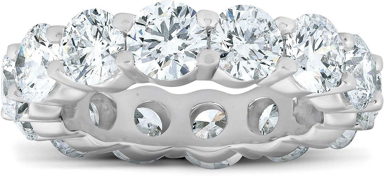 6 Opening large release sale Ct Diamond Eternity Wedding White Genuine Free Shipping Gold 14k Ring